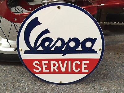 classic VESPA of italy heavy DUTY metal porcelain COATED sign