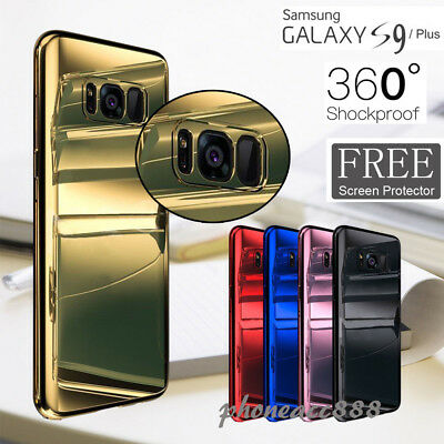 360°Protective Mirror Case Cover+Screen Protector For Samsung Galaxy S9 S8 Note9
