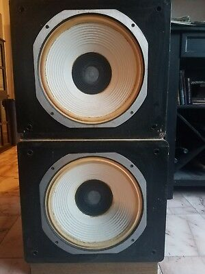 Vintage JBL LE14C speakers with LX2-1 crossovers