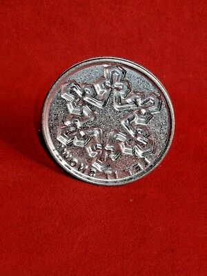 "Nordic Ware cast Aluminun Cookie stamp ""Let It Snow"""