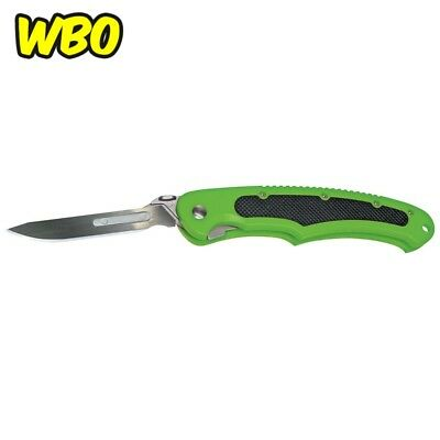Green Black Havalon Piranta Bolt Knife 60A Blades Large Improved Grip Handle NEW