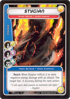 City of Heroes CCG 70-Card Tourney Deck (Stygian)