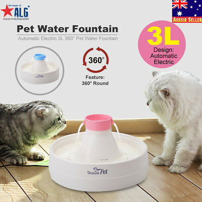 3L 360° Electric Automatic Pet Water Fountain Dog Cat Waterfall Drinking Bowl