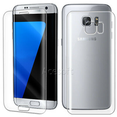 Front+Back Premium Tempered Glass Screen Protector for Samsung Galaxy S7 edge