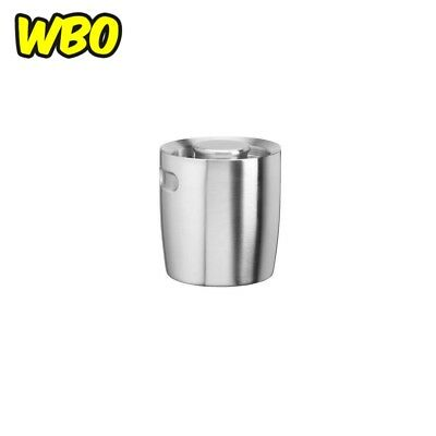 Insulated Ice Bucket Brushed Stainless Steel No Handle Bar Accessory 1.5 Qt NEW
