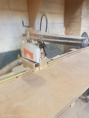 Maggi junior 640 radial arm saw, used but excellent condition, 2 blades