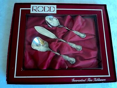 Vintage RODD 'Camille' 3 piece Jam, Sugar and Butter set - New in box