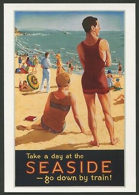 "AUSTRALIA: Historical travel poster ""SEASIDE"" by Fay Plamka [1993]"
