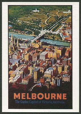 "AUSTRALIA: Historical travel poster ""MELBOURNE"" by Fay Plamka [1993]"
