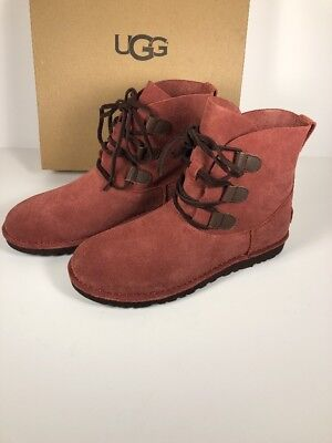 d131eb92cd7 UGG ELVI WOMEN Boots Red Clay Size 9 New With Box 1017534