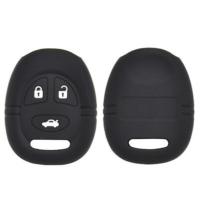Silicone Key Case Cover For Saab 9-3 9-5 Fob Remote Holder 3 Button