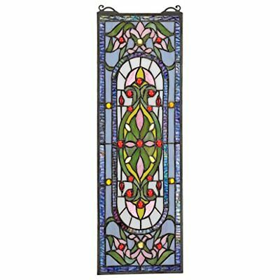 NEW Stained Glass Panel  Palais Royal Window Hangings Treatments FREE SHIPPING