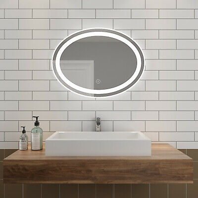 800x600mm LED Illuminated Mirror Touch Switch Wall mounted Bathroom Must-have