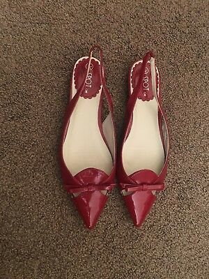Flat Pointed Toe Sling Back Red Flat Shoes Size 5 5.5 6 Zara River Island Topsho