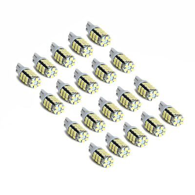 20x T10/921/194 Pure white RV Trailer 42-SMD 12V Backup Reverse LED Lights Bulbs