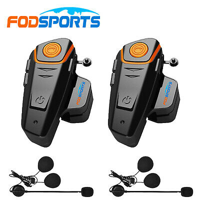 2x 1000m Bluetooth Motorrad Intercom Headset Helm Gegensprechanlage Sprechanlage