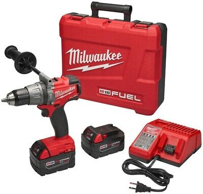 Milwaukee M18 FUEL 18-Volt Lithium-Ion Brushless Cordless 1/2 in. Hammer W/(2)
