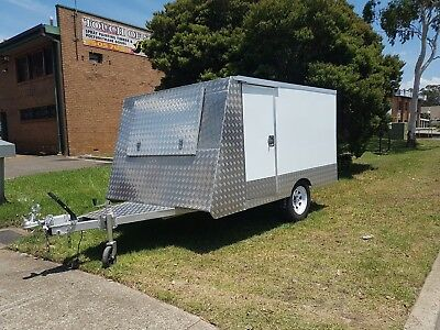 Glossy White Motorbike Work Enclosed Trailer | 3 Bike / 600 kg Carrying Capacity