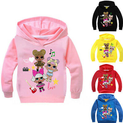 Girls Kids L.O.L Lol Surprise Doll Long Sleeve Spring Hoodie Sweatshirt Pullover