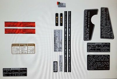 Honda Cbx1000 Warning Labels Decal Kit ( Usa Version)