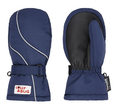 waterproof and warm blue mittens 1-2 years