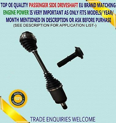 For BMW5 F10 F11 6 F06 F12 F13 Xdrive Front Right Off Side Driveshaft