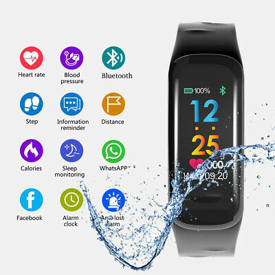Smartwatch Fitness Tracker Bluetooth Armband Sport Uhr Android iOS Wasserdicht