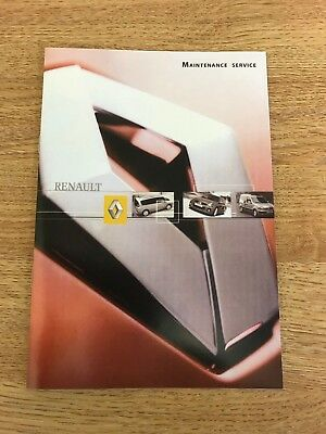 Renault Service Book New Genuine Not Duplicate All Renault Models Cars & Vans$