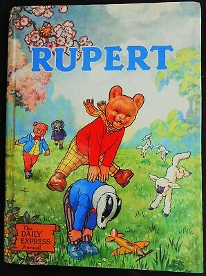 Vintage Original 1958 Rupert Bear Annual, Price Unclipped, Stamp Page Untouched