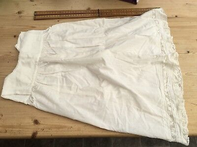 A Vintage Or Antique Cotton Christening Gown For Baby Or Large Doll