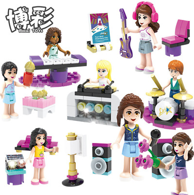 Girl Toys Minifigures 8Pcs Music Building Block Minifigures Set Custom lego
