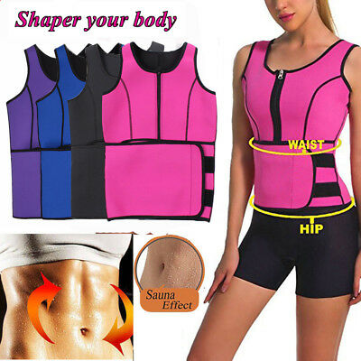 Women Slimming Vest Sweat Sauna Waist Trainer Corset Fitness Body Shaper Thermo