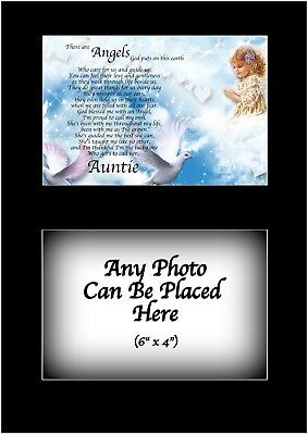 To My Auntie Poem Personalised with ANY PHOTO Birthday Mothers Christmas Gift