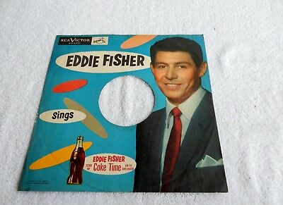 Sleeve Only  Eddie Fisher  For Coke   78 Rpm Record Sleeve