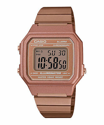 Vintage Casio B650WC-5A Rose Gold Bronze Digital Watch NEW B650