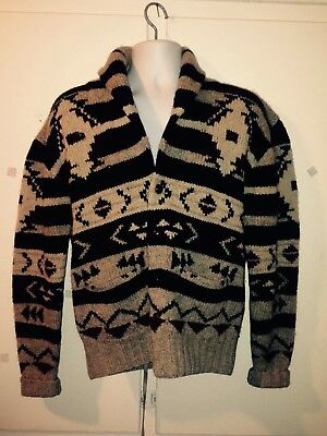 Ralph Lauren Hand Knitted Polo Sweater, Men's Southwestern Style-Vintage