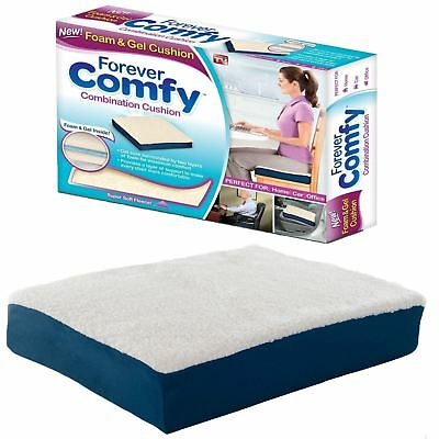 Forever Comfy Gel Cushion Pillow Soft Warm Chair Seat Therapeutic Support Care