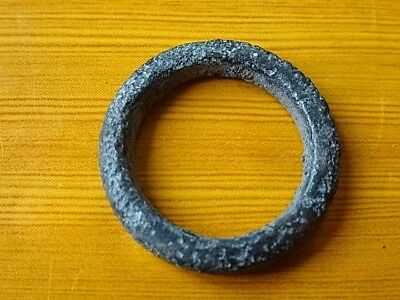 Authentic Ancient Celtic Bronze Ring Proto - Money 500 BC RARE.