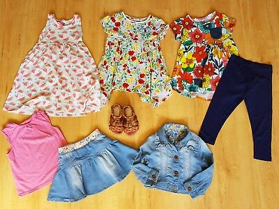 girls summer bundle Inc NEXT dress, tunic tops, denim jacket, outfits 2-3 years