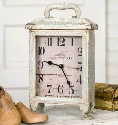 Weathered Rustic, Carriage Tabletop or Mantel Clock - Tabletop  Special SALE!