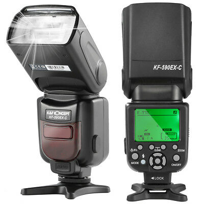 Speedlite Flash 590C E-TTL Flash with LCD Display Wireless for Canon DSLR Camera