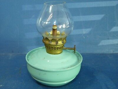 Nursery Oil Lamp Small Kelly Pixie Turquoise Blue Vintage Antique
