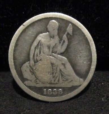 1838-O Seated Liberty Dime - No Stars!   VG+        ENN COINS