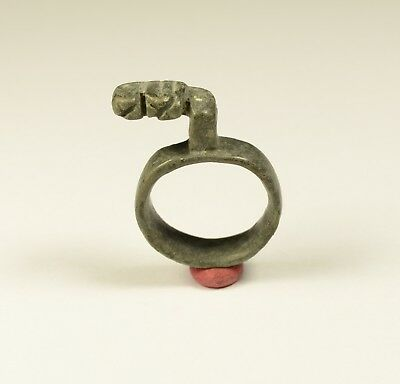 PERFECT ANCIENT ROMAN BRONZE RING KEY 1st - 3rd Century AD
