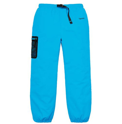New Supreme X Nike Trail Running Pants Sz Med Blue FW17 Humara Collab In Hand