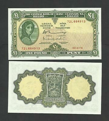 CENTRAL BANK OF IRELAND   £1   1976  LADY LAVERY  P64d