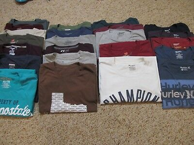 Mens size 2X lot of 22 crew neck T-shirts
