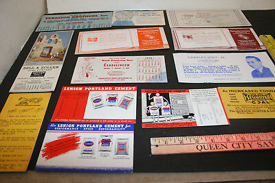 Vintage 1940s advertising ink blotters lot of 13