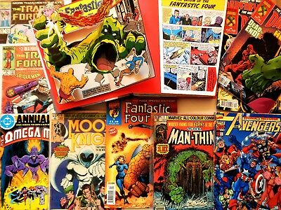 MARVEL COMICS LOT Rare First Issues Moon Knight Avengers Fantastic Four + EXTRAS