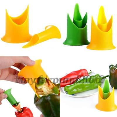 2Pcs Pepper Corer Tomatoes Core Separator Remover Device Kitchen Tool